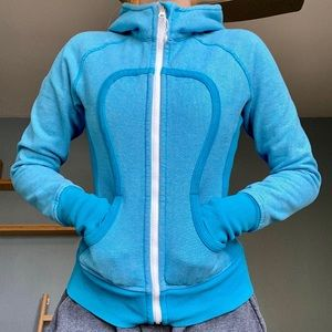 Lululemon blue striped scuba hoodie